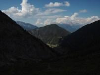 Descending from Col de Balme