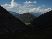 Descending from Col de Balme