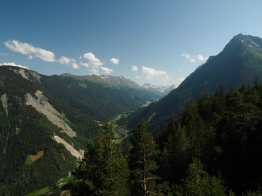 Mountain and valley views from Hotel Splendide, Champex