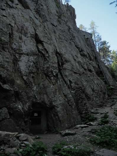 Rock with fortifications