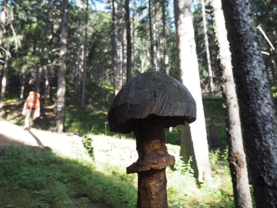 Mushroom carved of wood