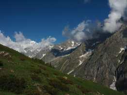 above Bonatti, looking toward Mont Blanc