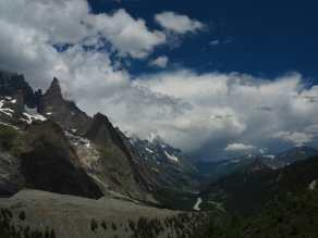 Looking back up the Italian Val Ferret