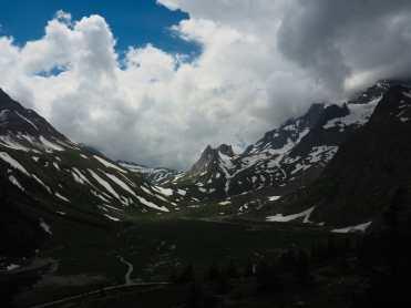 View toward Rifugio Elisabetta and Col de la Seigne