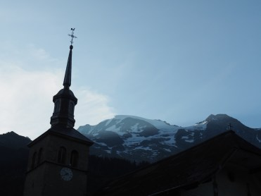 Morning in Les Contamines