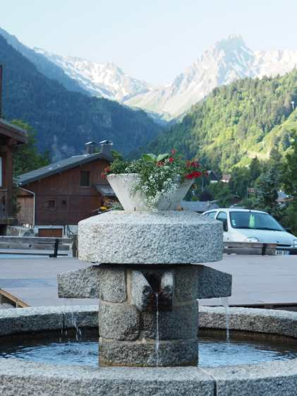 Fountain in Les Contamines
