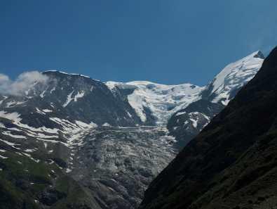 view of Bionnassy glacier from Col de Tricot