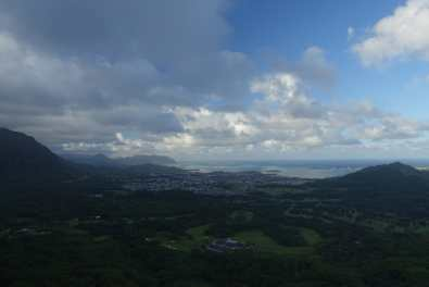 view from Nu'Uanu Pali Lookout