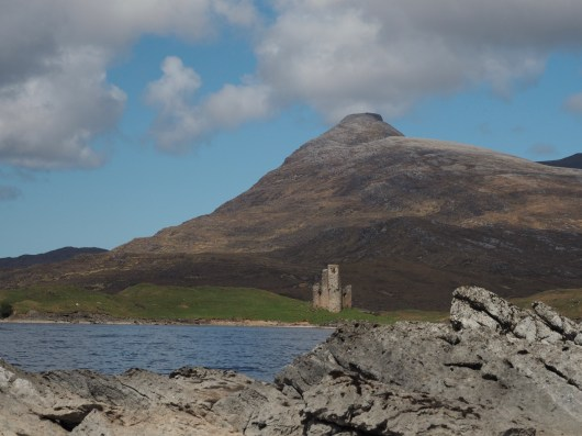 Ardvreck Castle, Quinag, and Loch Assynt