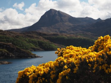 Quinag from Kylesku Bridge