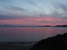 Gairloch sunset, looking toward Skye