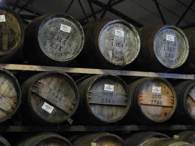 Casks in the Bruichladdich warehouse