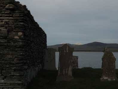 view of the Paps from Kilnave Chapel, Islay