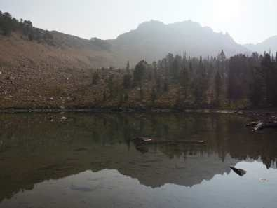 Tarn above Fourth of July Lake