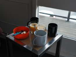 Mugs and bowls at Aoraki Lodge
