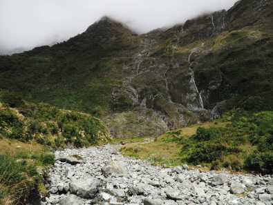 Waterfalls along the Milford Track