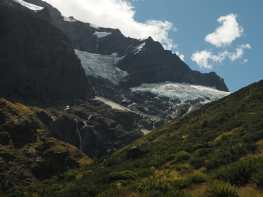 Mountains, waterfalls, and glaciers