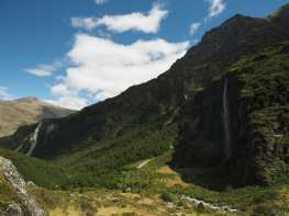 Waterfall and Rob Roy valley