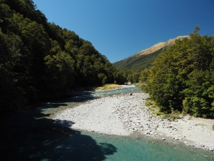Makarora River on the way to Blue Pools