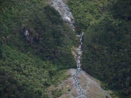 View of waterfalls from Mackinnon Pass