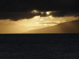 sunset at Makaluapuna Point