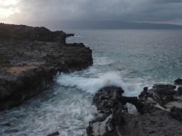 Waves and a sea arch along the Kapalua Coastal Trail