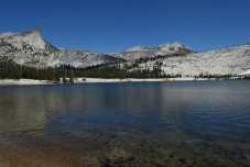 Echo Peaks and Cathedral Peak above Lower Cathedral Lake