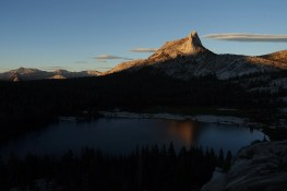 Cathedral Peak and Lower Cathedral Lake