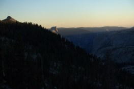 Clouds Rest and Half Dome at Dusk