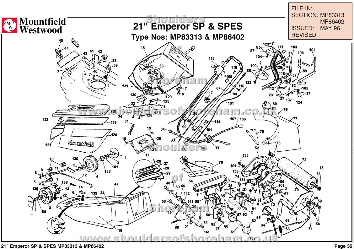 Mp Mp Mountfield Emperor 21 Machine Diagram For