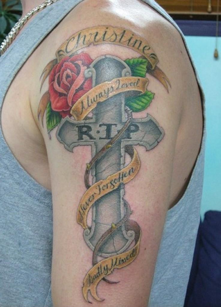 73 Stunning Cross Shoulder Tattoos
