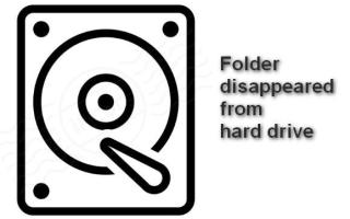 How to Find the Folder Disappeared From Hard Drive