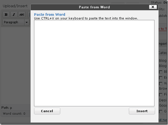 editpane thumb How to Copy Post from Microsoft Word File to WordPress Correct Way
