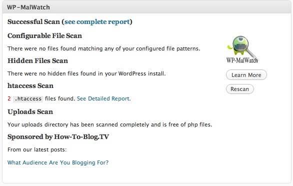 wp malwatch Top WordPress Security Plugins To Check Hacked WordPress blog