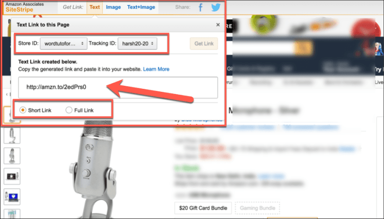 How to create amzon affiliate link - getting-amazon-affiliate-url