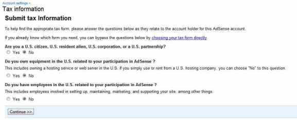 Indian Publisher Tax Info Adsense