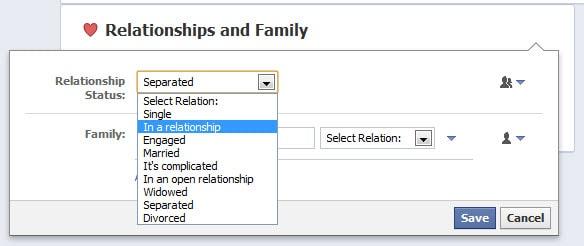 How Change Relationship Status Facebook