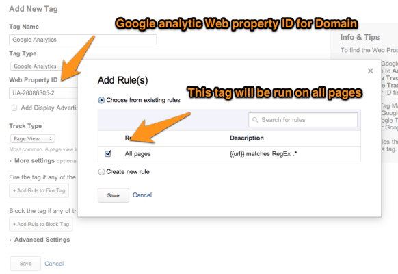 Adding Google analytics to Tag manager