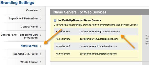 Name server settings