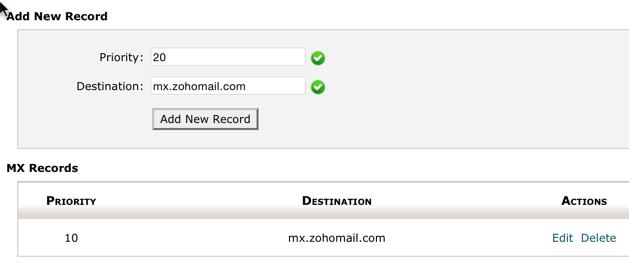 Add MX record on Hostgator