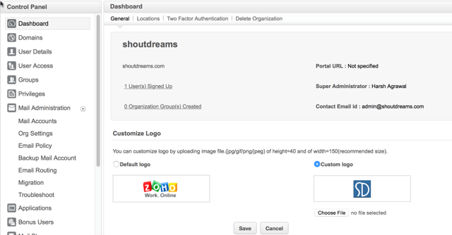 domain email address