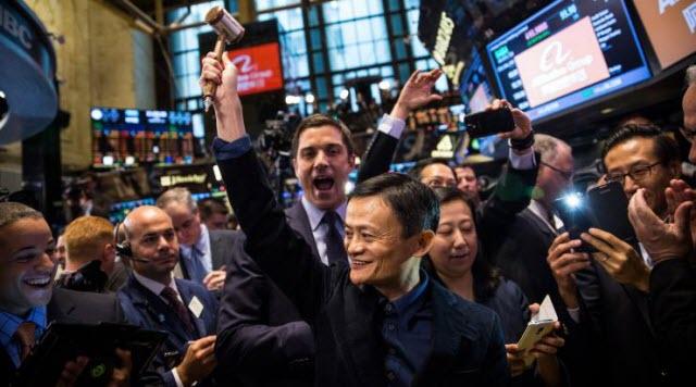 Jack Ma at Alibaba IPO