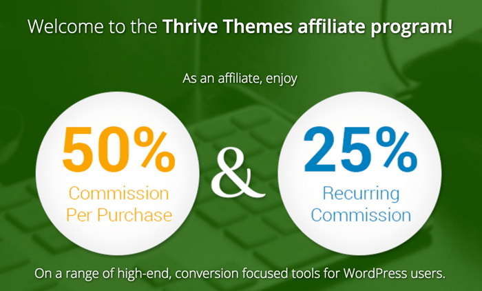 Thrivethemes affiliate program