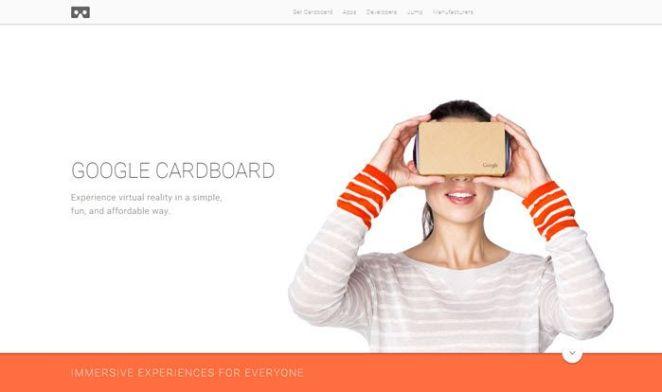 Google Cardboard VR headset