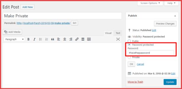WordPress Password Protected post