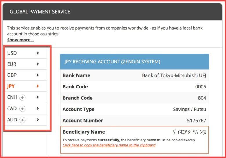 Servizio di pagamento globale