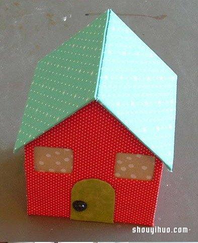 娃娃屋的制作方法 可愛小房子模型手工DIY_手藝活網