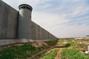 Separation wall running through Palestine.