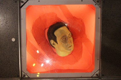A replica of Data's head.