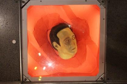 A replica of Data's head.